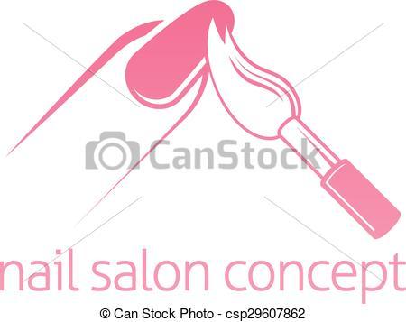 Nails clipart vector  Salon Salon Nail Nail