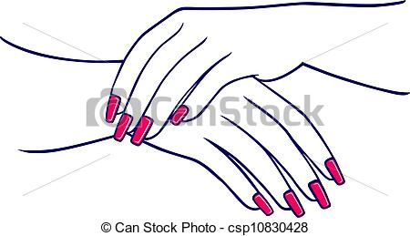 Nails clipart woman hand Background Woman's white Vector hand