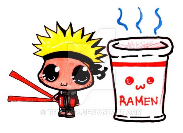 Naruto clipart chibi ramen On by Chibi Naruto+Ramen: TheGrief