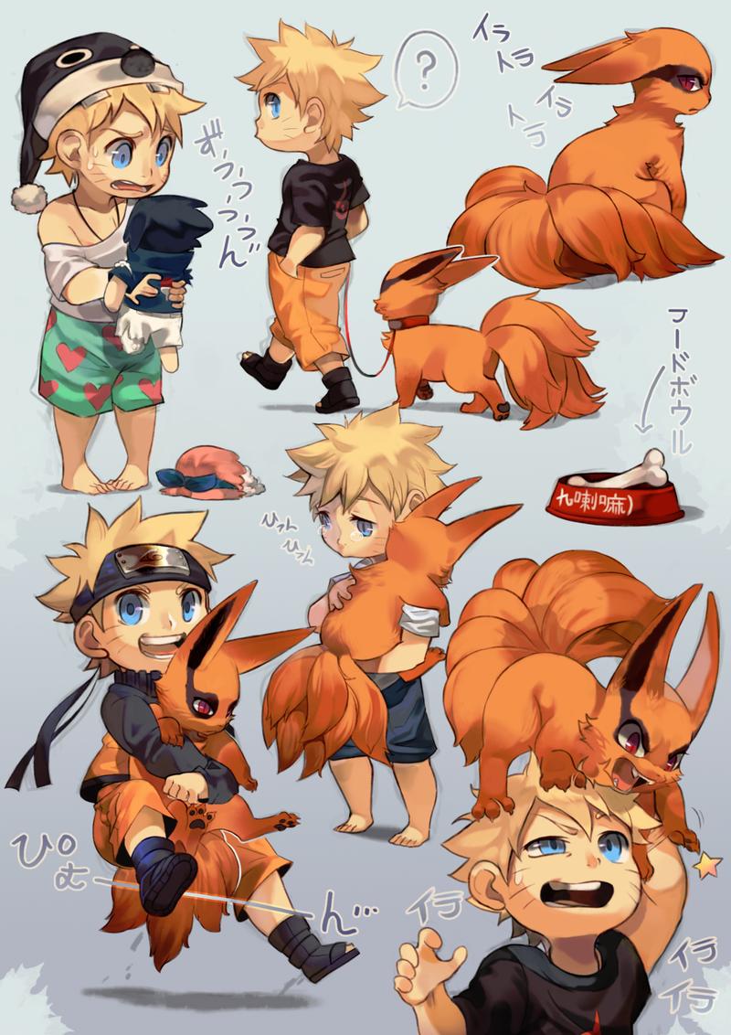 Naruto clipart little Daily Naruto Kurama and –