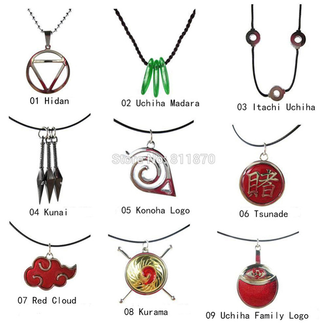Naruto clipart necklace Konoha Cartoon Kunai Hidan Naruto