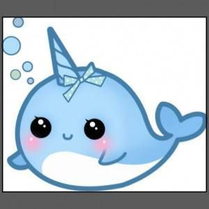 Narwhal clipart mustache drawing And on more Narwal Pin