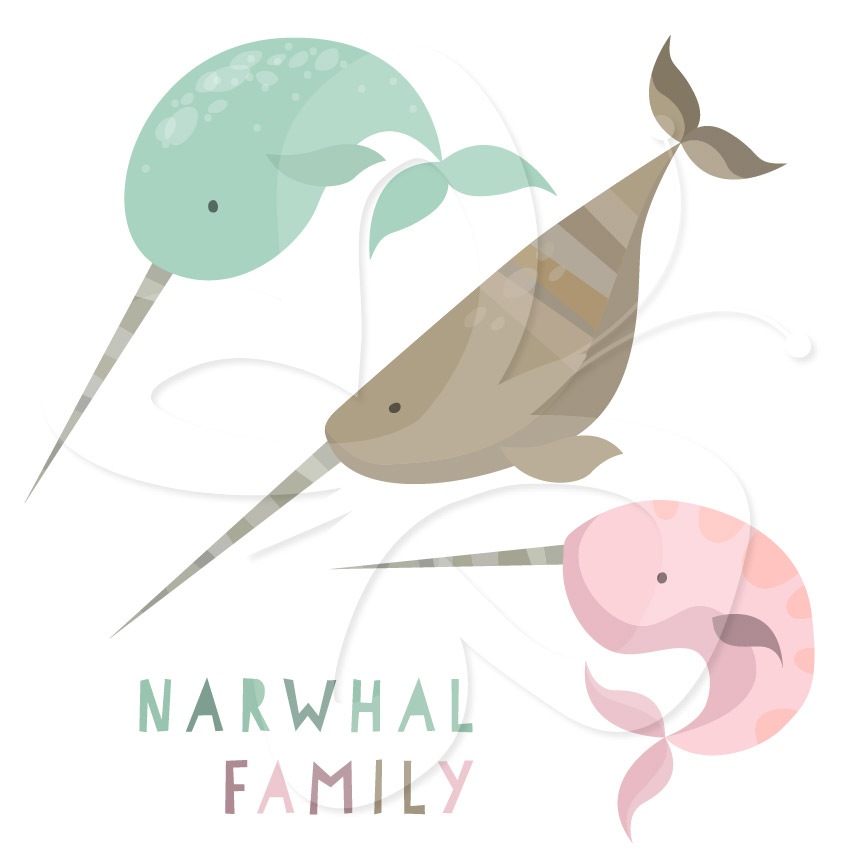 Narwhal clipart cute Download clipart #18 Download Narwhal