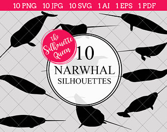 Etsy Clip SVGs Narwhal PNGs