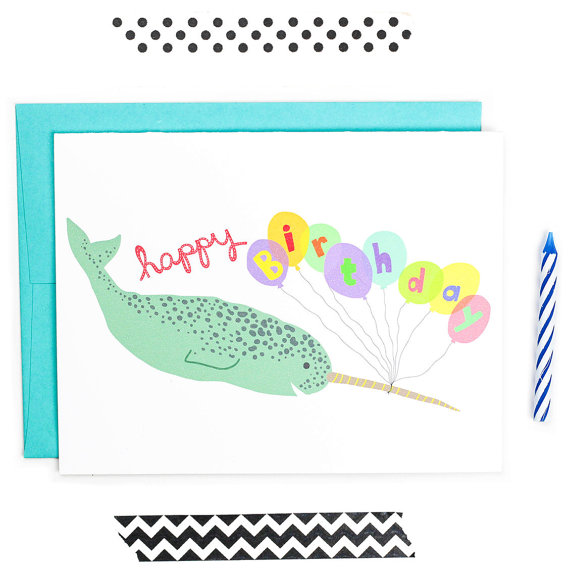 Narwhal clipart happy birthday #2