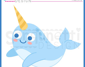 Narwhal clipart happy birthday #3