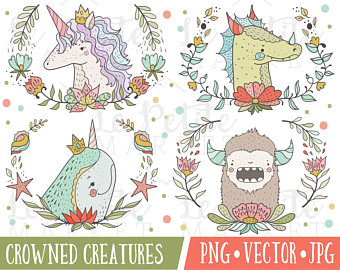 Narwhal clipart magical Spring Clip Yeti Set Portrait