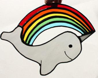Narwhal clipart rainbow Suncatcher Sun Rainbow Narwhal Narwhal