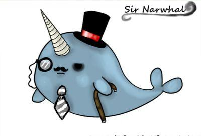 Narwhal clipart mustache drawing Narwhal (@McNarwhalSir) Sir Narwhal Twitter