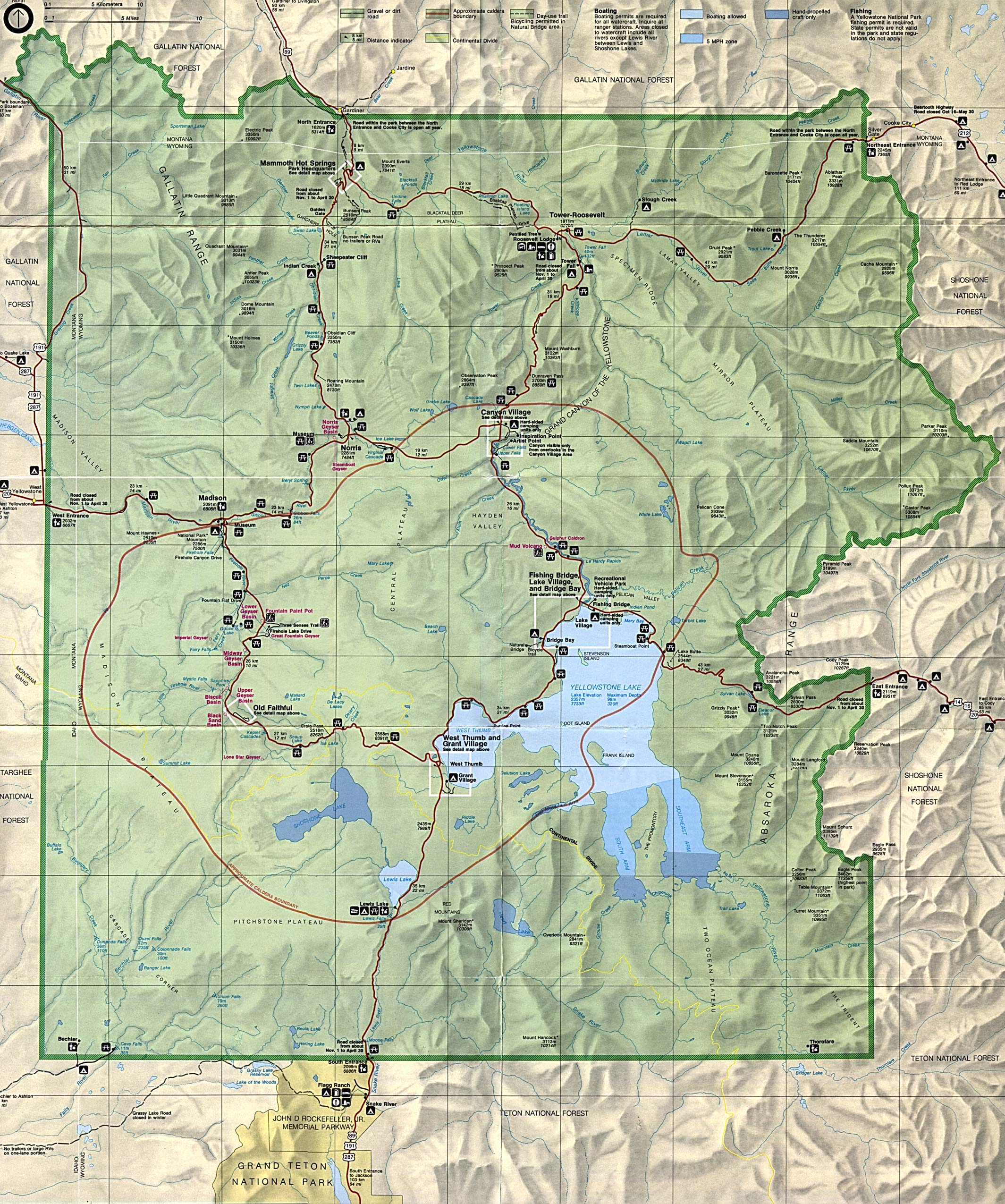 Yellowstone clipart map Park National – National Clipart