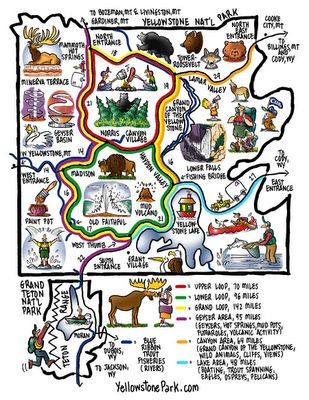 Yellowstone clipart map Pinterest Park national to 2011