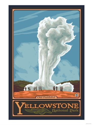 Yellowstone clipart / images Geyser on Travel