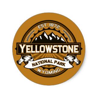 Yellowstone clipart national park Zazzle Yellowstone Classic National Round