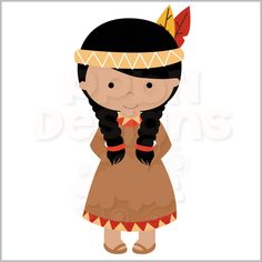 Native American clipart animated Art American girl american Clipart