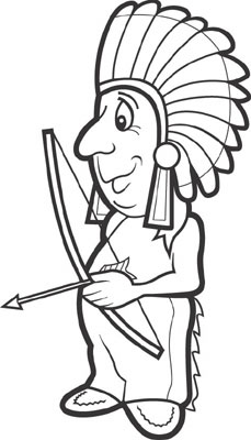 Native American clipart black and white To clip Native 3 Pictures