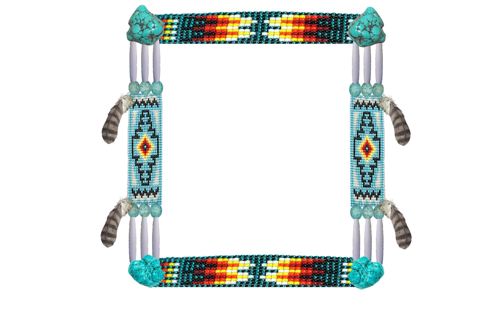 Native American clipart border STENCIL  Native American Native