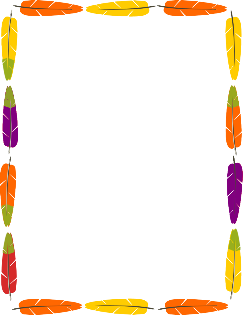 Native American clipart border Feathers Art Find Fonts frame