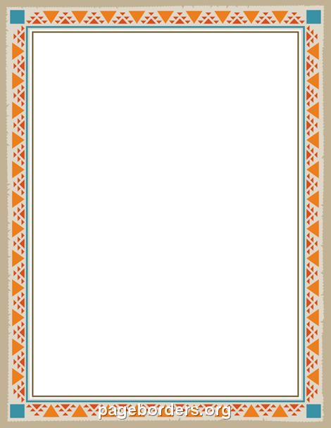 Native American clipart border  American Printable GIF Find