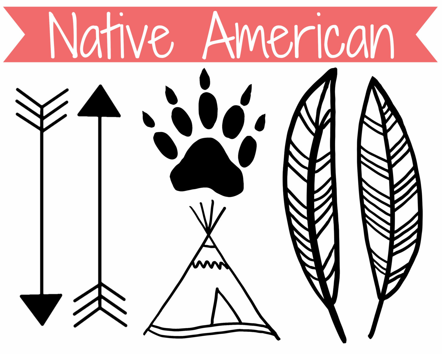 Arrow clipart native american – arrow Clipart collection indian