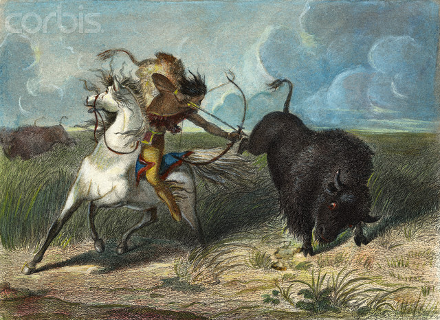 Native American clipart bow hunting Arrow and American American Buffalo