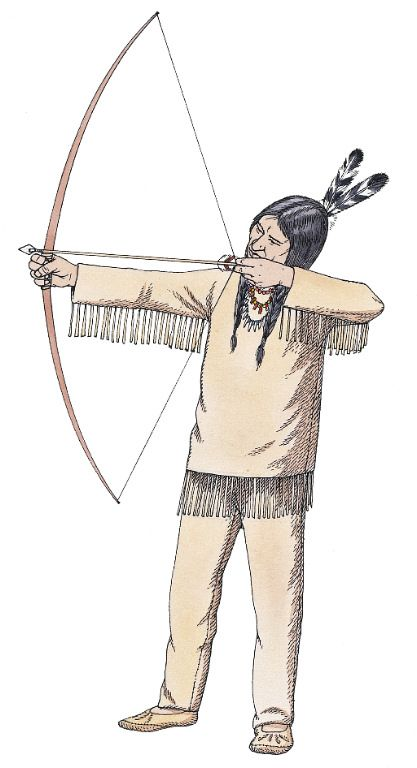 Native American clipart bow hunting Make Arrows Americans on Pinterest