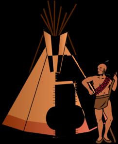 Native American clipart cartoon American Native vector With Art