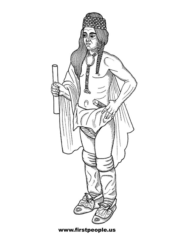 Native American clipart cherokee Clipart images Americans color to