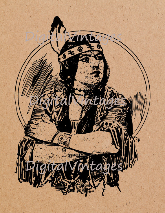 Native American clipart cooking 300dpi Cooking Image Digital Prints