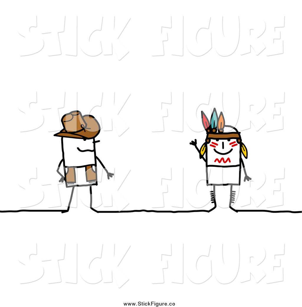 Pilgrim clipart cowboy indian Royalty Free Figure Americans Stock
