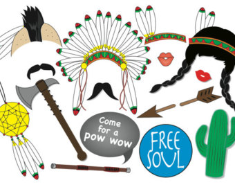 Pilgrim clipart cowboy indian American Mohawk Party Photo Indian