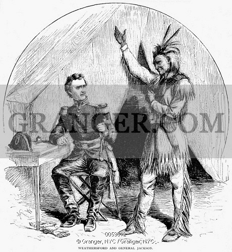 Native American clipart creek Chief (1767 Of JACKSON ANDREW