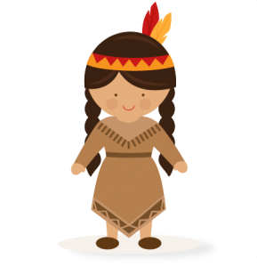 Native American clipart cute American pazzles file Native Girl