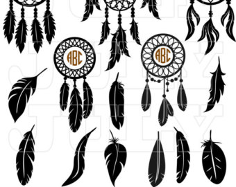 Native American clipart dream catcher Svg svg Monogram Dreamcatcher Catcher