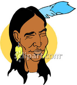 Native American clipart face A Smiling Face American a