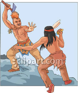 Native American clipart fighting Royalty Fighting Royalty Native Men