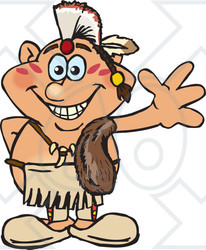 Native American clipart happy  American a Man Indian