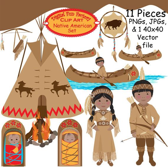 Native American clipart harvest Etsy art ideas Thanksgiving Clip