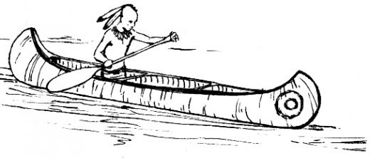 Native American clipart indian canoe Free Coloring Native CC American
