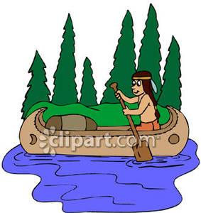 Native American clipart indian canoe Boy Boy Canoe a Royalty