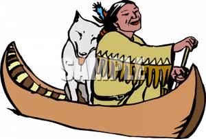Native American clipart indian canoe Royalty the Canoe  a