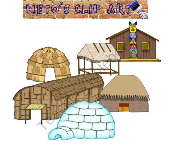 Native American clipart indian hut From on set American American