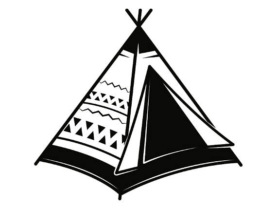 Native American clipart indian hut American Vector Native Tee Tent