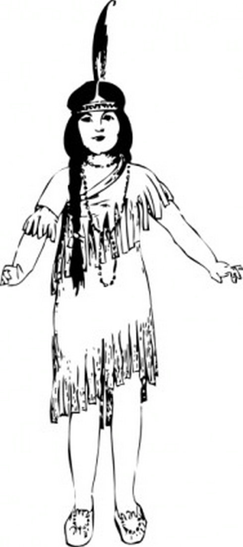 Native American clipart indigenous person Download Native Free Girl Download