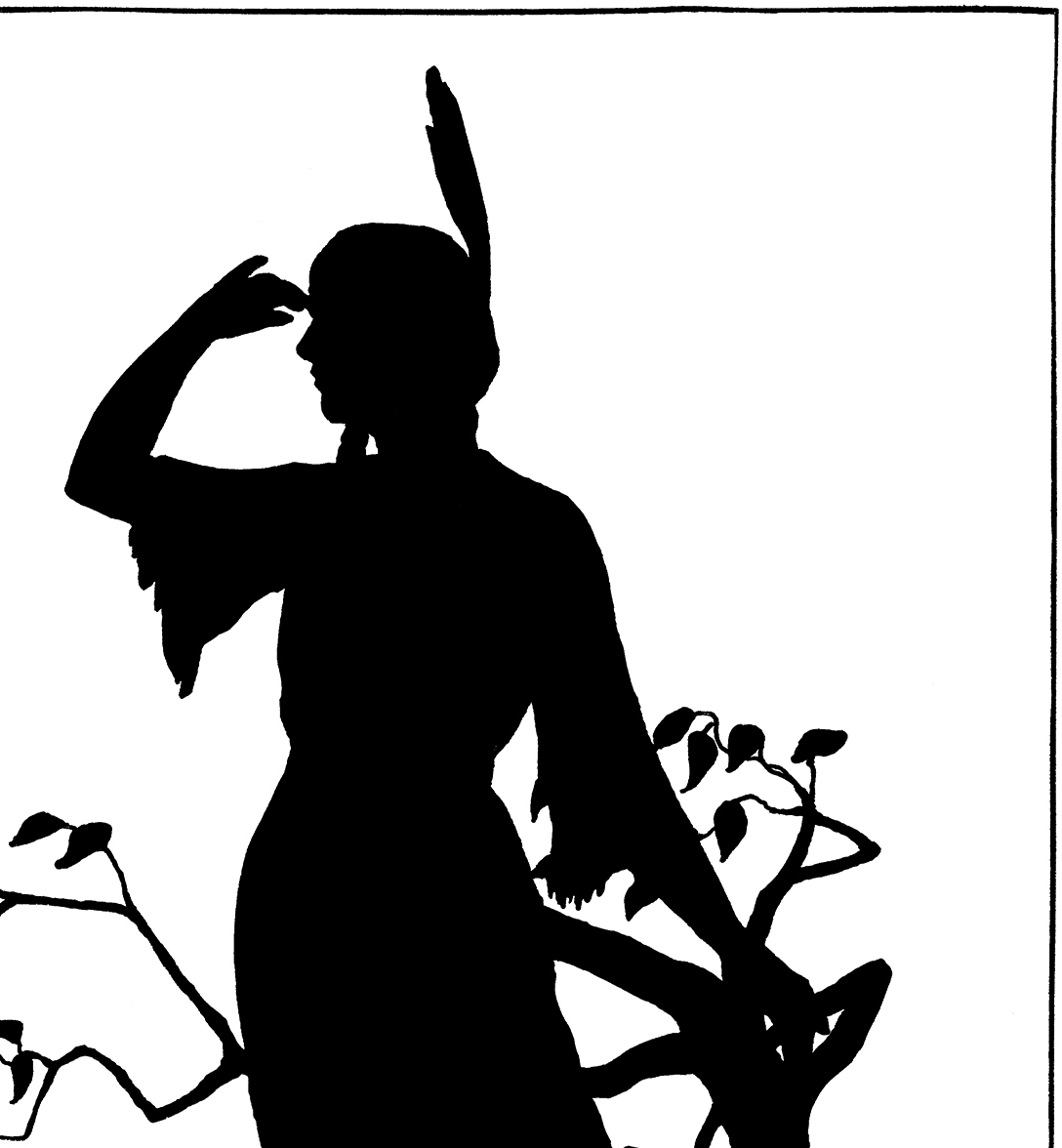 Native American clipart lady sewing Silhouette! Image The  Girl