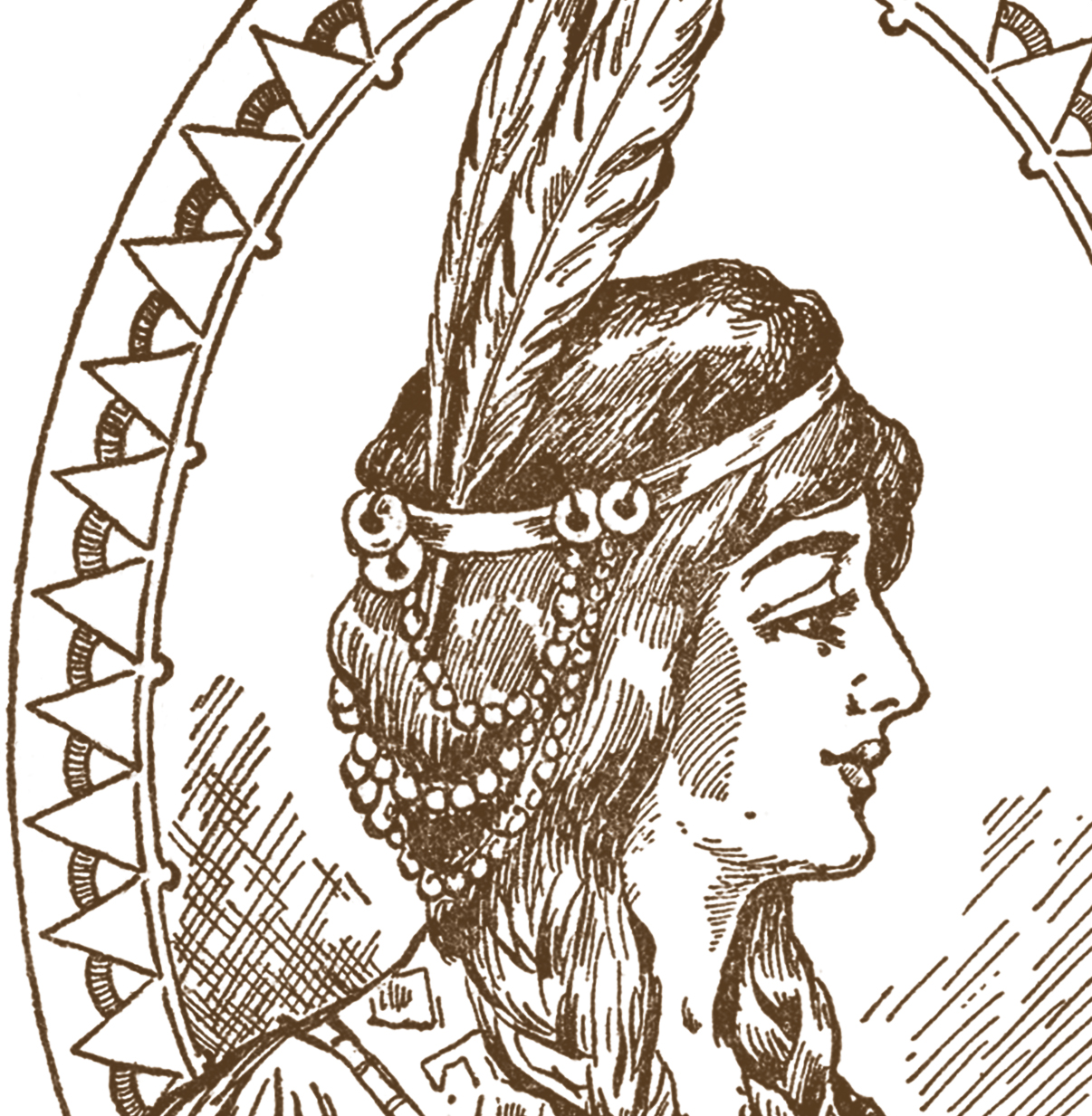 Native American clipart lady sewing The American Clip  Woman