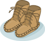 Native American clipart moccasin American Native On cps Clipart