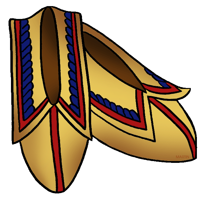 Native American clipart moccasin Moccasins Southeast Art Martin Americans