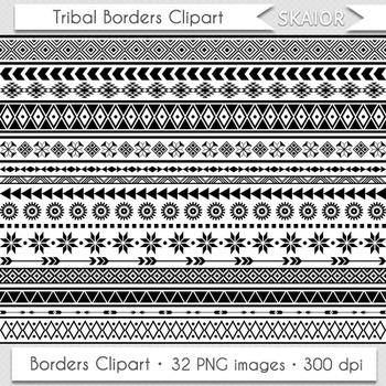 Native American clipart native african Borders Geometric African Borders Aztec
