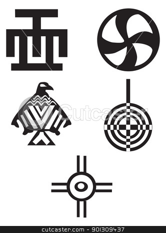 Native American clipart native african Indians symbols african and American