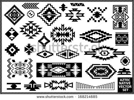 Native American clipart navajo Navajo Aztec set  vector